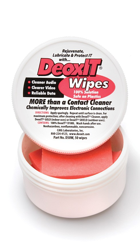 DeoxIT Contact Cleaner Wipes